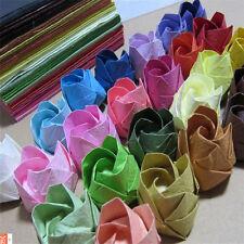 "Hot 20Pcs Sheets Origami Crane Folding Rose Paper Any Colors 15cm (5.9"") Square"