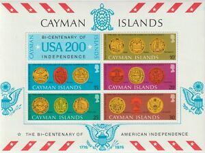 Cayman Islands 1976 Souvenir Sheet #376a American Bicentennial - MNH