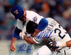 Nolan Ryan Punching Robin Ventura Texas Rangers Autograph Signed 8x10 Reprint