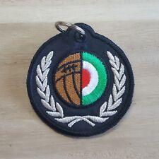 ITALICHE ORIGINI portachiavi NERO nylon pallone ULTRAS  italia diametro 7 cm