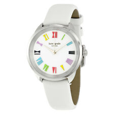 Kate Spade Crosstown White Dial Leather Ladies Watch KSW1092