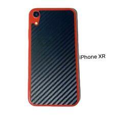 Negro Apple iPhone Xr De Lujo Vinilo Pegatina Antideslizante Trasera Protectora De Fibra De Carbono