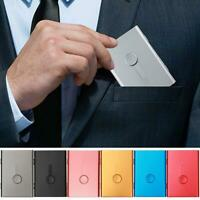 Nice Stainless Steel Pocket Business Name Credit ID Card Holder Box Metal Case