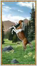 Roaming Wild Horse Wall Quilt Panel Fabric 100% Cotton Kevin Daniel Wilmington