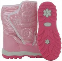 LOVELY GIRLS RUCANOR SKI SNOW WINTER BOOTS THERMAL PINK OR WHITE 10-2.5