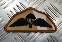 Genuine British Army Issue DPP Desert Camo Subdued Para Wings Patch Badge NEW