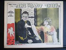 1927 THE HEART THIEF - RARE EXC CON SILENT ERA LOBBY CARD - COUPLE WITH A GUN