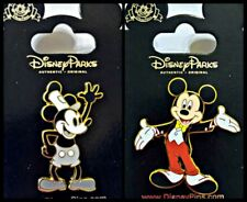 Disney Parks 2 Pin Lot Mickey Mouse Steamboat Willie + Mickey in Tux