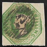 GB 1847 QV SG56 1s Deep Green Embossed Fine Used CV £1000
