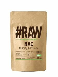 #RAW N Acetyl L Cysteine (NAC) 120 x 600mg V-caps - Liver & Lung Support