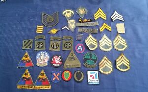 military patches, unit, rank and misc.