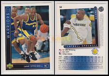 NBA UPPER DECK 1993/94 - Latrell Sprewell # 54 - Warriors - Ita/Eng - MINT