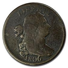 1806 Half Cent Large 6 w/Stems VG - SKU#24599