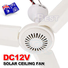 Portable 12V Ceiling Fan 3 Blade 0.7AMP HQ Caravan Camping For Solar Power AU