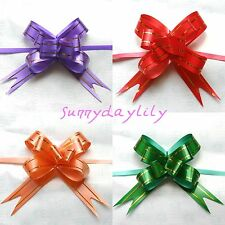 40pcs 12x210mm Pull Flower Ribbon Bow Gift Wrap 4 COLOR