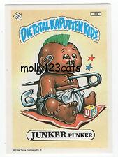 Die Total Kaputten Garbage Pail Kids GPK Topps German 1994 #104 Junker Punker