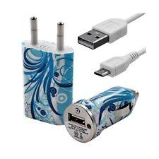Mini Chargeur 3en1 Auto + Secteur USB + Câble Data avec HF08 pour LG : Optimus