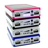 20000mAh Portable Dual USB Mobile Battery Charger Solar Power Bank Case DIY RCYF