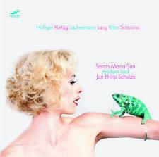 SARAH MARIA SUN Modern Lied -Lachenmann,Sciarinno,Kurtag,Rihm,Lang–MODE CD NEW