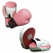 Pink Ladies Focus pads and Boxing Gloves set Hook & Jab Punching kick boxing MMA