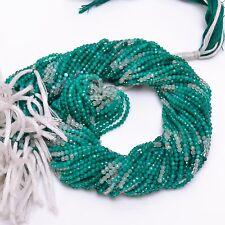 "Natural Green Onyx Shaded Gemstone Round Israel Cut Beads 2.5mm Strand 13"" EB103"