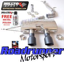 """MILLTEK GOLF R MK6 CAT RETRO SISTEMA DI SCARICO 3"""" RACE senza valvola di non RES BLK SSXVW217"""