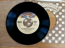 KISS, I Was Made For Lovin' You / Hard Times, Casablanca 45 RPM & Sleeve, 1979