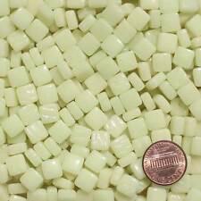 8mm Mosaic Glass Tiles - 2 Ounces About 87 Tiles - Faint Yellow White