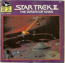"Star Trek 2    ""The Wrath Of Khan""    Rare 33 1/3  7"" Read A Long 1982 Vinyl"
