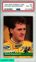 1992 GRID Michael Schumacher #51 FORMULA ONE LEGEND ROOKIE RC PSA 8 NM-MT
