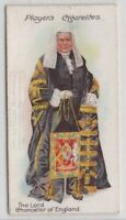 Formal Dress Lord Chancellor Of  England  Wig 100+ Y/O Trade Ad Card