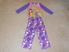 Disney Princess Rapunzel Fleece Heart 2 Pc Pajama Shirt Pant Set SIze 6 NWT
