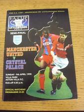 09/04/1995 FA Cup Semi-Final: Manchester United v Crystal Palace [At Aston Villa