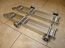 Garage Door Low Headroom Quick Turn Brackets with Steel Rollers - Pair
