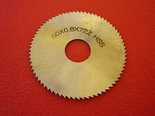 60x0.8mm x72 Teeth HSS Slitting / Slotting Saw