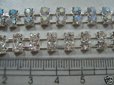 Rhinestone Chains with settings, Stone Belt Body