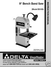 Delta Bandsaw Model# BS100 Instruction Manual