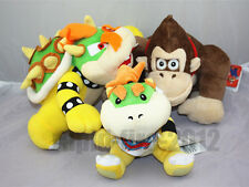 3pcs Super Mario Bros. King Koopa & Bowser Jr.& Donkey Kong Plush Doll Toy Gift