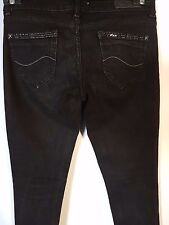 "WOMEN'S JEANS LEE SKINNY STRETCH BLACK SIZE 9/27"" LEG 28"""