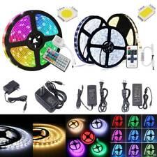 5M 10M 20M 300 LED Strip Light SMD 5050 5630 RGB Flexible Remote+Power Supply