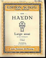 Haydn - Largo assai ~ alte, übergroße Noten, Piano und Violine