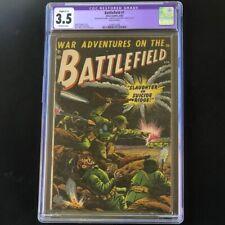 Battlefield #1 (Atlas 1952) 💥 CGC 3.5 Restored 💥 Rare! Pre-Code Golden Age War