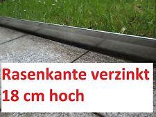 20 Meter Rasenkanten Metall 18 cm hoch Beeteinfassung Rasenkante Mähumrandung