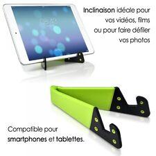 Support Universel Pliable de poche couleur vert pour tablette et smartphone iPad