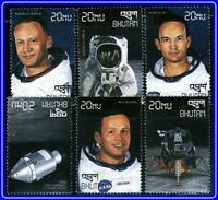 BHUTAN = SPACE / APOLLO on MOON LANDING x6 STAMPS MNH **