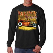 Rust Bucket Auto Group Hot Rat Rod Car Racing Long Sleeve T-Shirt Tee