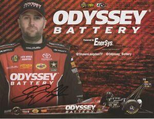 2016 Shawn Langdon signed Odyssey Battery Top Fuel NHRA postcard