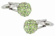 Peridot Green Ball Cufflinks
