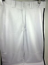 EASTBAY, GAMEDAY BASEBALL PIPED PANTS, XLARGE, WHITE/ BLACK NEW W/DEFECT 2262134