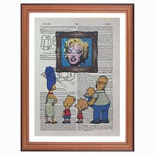 The Simpsons vs Andy Warhol - Marilyn - dictionary page art print